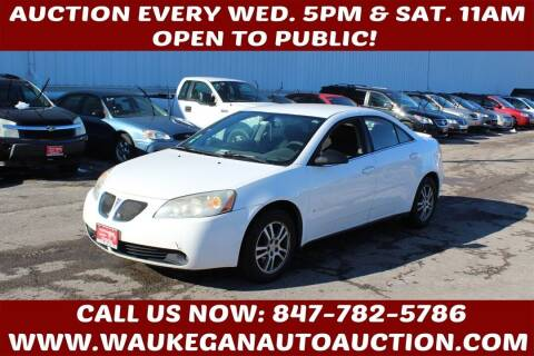 2006 Pontiac G6 for sale at Waukegan Auto Auction in Waukegan IL