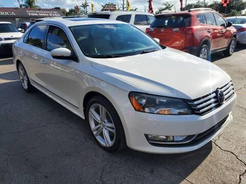 2013 Volkswagen Passat for sale at America Auto Wholesale Inc in Miami FL