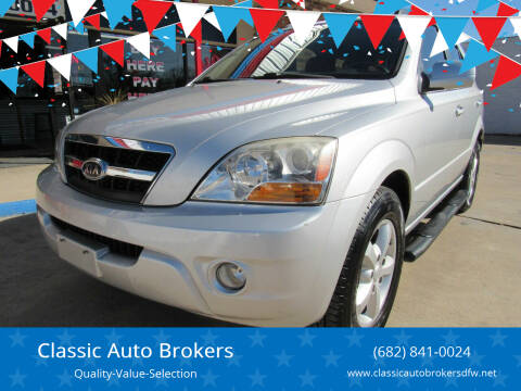 2009 Kia Sorento for sale at Classic Auto Brokers in Haltom City TX