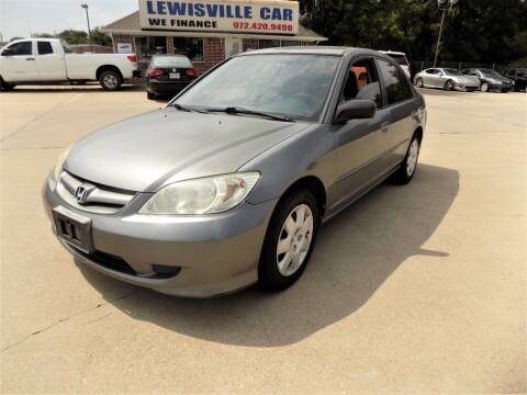2004 Honda Civic for sale at Lewisville Car in Lewisville TX