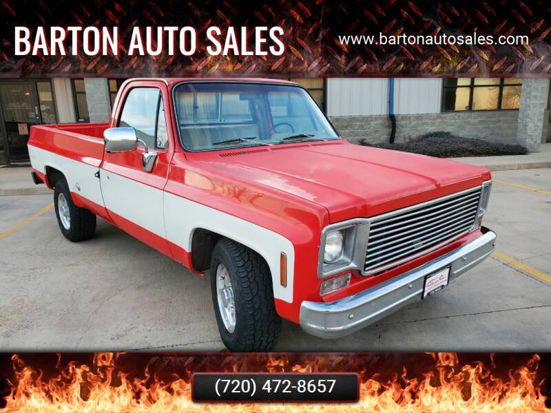 1976 Chevrolet C/K 20 Series for sale at Barton Auto Sales in Longmont CO