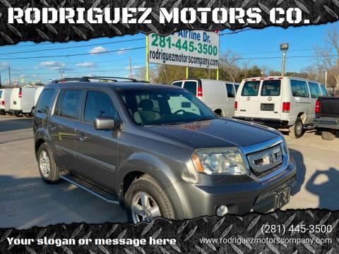 2011 Honda Pilot for sale at RODRIGUEZ MOTORS CO. in Houston TX
