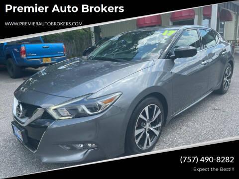 2017 Nissan Maxima for sale at Premier Auto Brokers in Virginia Beach VA