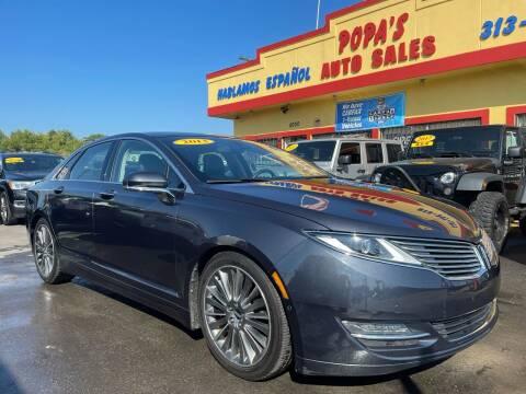 2013 Lincoln MKZ for sale at Popas Auto Sales in Detroit MI