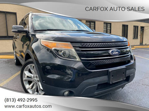 2015 Ford Explorer for sale at Carfox Auto Sales in Tampa FL