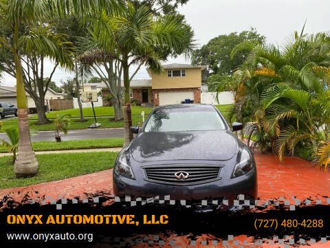 2013 Infiniti G37 Sedan for sale at ONYX AUTOMOTIVE, LLC in Largo FL