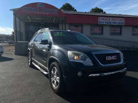 2007 GMC Acadia for sale at Choice Motors of Salt Lake City in West Valley  City UT