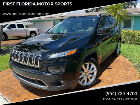 2017 Jeep Cherokee for sale at FIRST FLORIDA MOTOR SPORTS in Pompano Beach FL