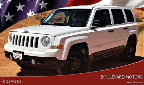 2015 Jeep Patriot for sale at Boulevard Motors in St George UT
