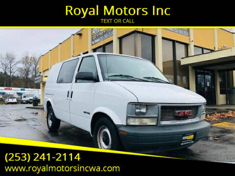 2000 GMC Safari Cargo for sale at Royal Motors Inc in Kent WA