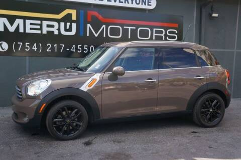 2012 MINI Cooper Countryman for sale at Meru Motors in Hollywood FL