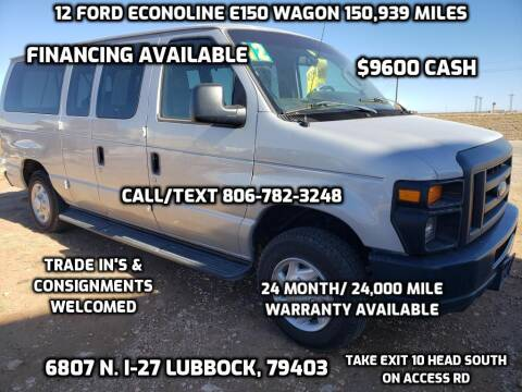 2012 Ford E-Series Wagon for sale at West Texas Consignment in Lubbock TX