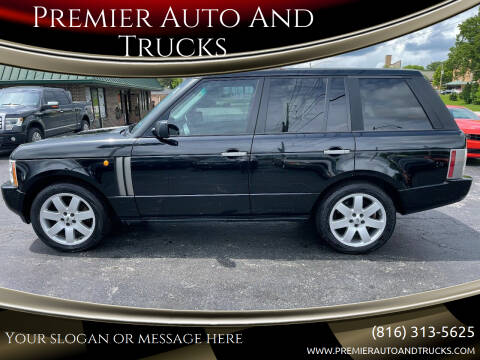 2004 Land Rover Range Rover for sale at Premier Auto And Trucks in Independence MO