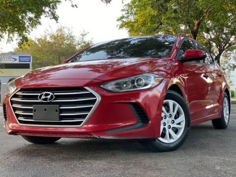 2017 Hyundai Elantra for sale at HIGH PERFORMANCE MOTORS in Hollywood FL