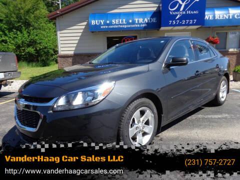 2015 Chevrolet Malibu for sale at VanderHaag Car Sales LLC in Scottville MI