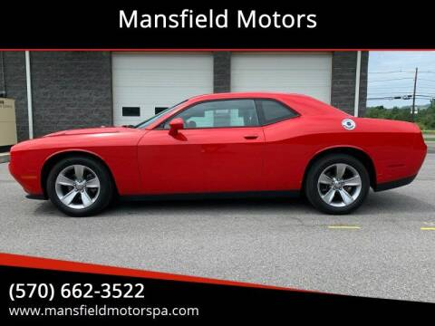 2016 Dodge Challenger for sale at Mansfield Motors in Mansfield PA