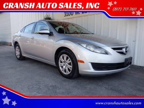 2013 Mazda MAZDA6 for sale at CRANSH AUTO SALES, INC in Arlington TX