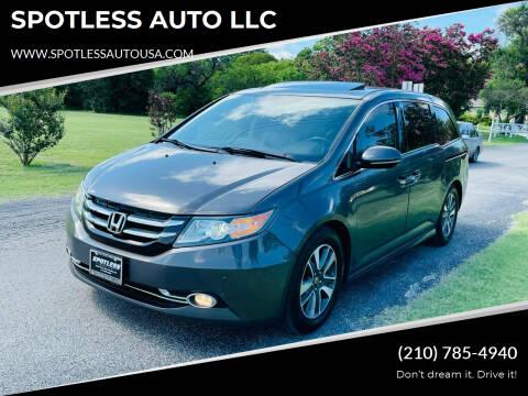 2014 Honda Odyssey for sale at SPOTLESS AUTO LLC in San Antonio TX