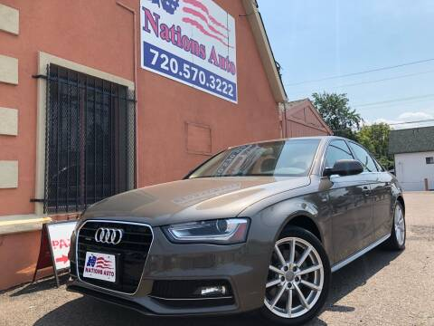 2014 Audi A4 for sale at Nations Auto Inc. II in Denver CO