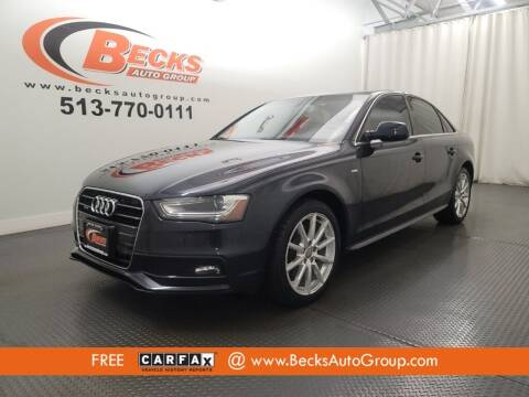 2014 Audi A4 for sale at Becks Auto Group in Mason OH
