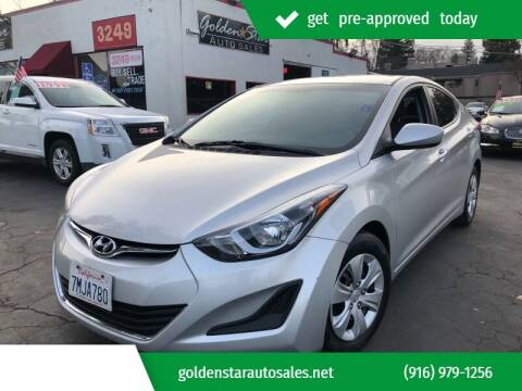 2016 Hyundai Elantra for sale at Golden Star Auto Sales in Sacramento CA