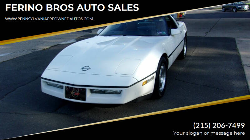 1988 Chevrolet Corvette for sale at FERINO BROS AUTO SALES in Wrightstown PA