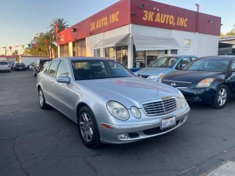 2003 Mercedes-Benz E-Class for sale at 3K Auto in Escondido CA