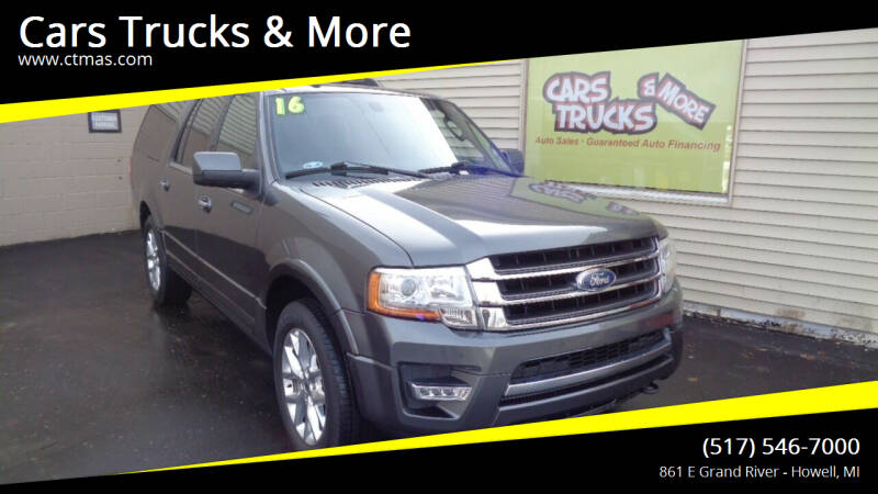 2016 Ford Expedition EL for sale at Cars Trucks & More in Howell MI