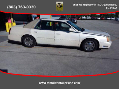 2003 Cadillac DeVille for sale at M & M AUTO BROKERS INC in Okeechobee FL