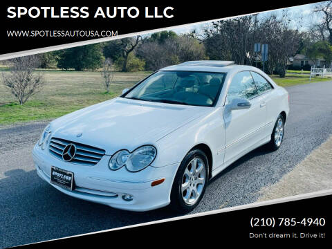 2004 Mercedes-Benz CLK for sale at SPOTLESS AUTO LLC in San Antonio TX