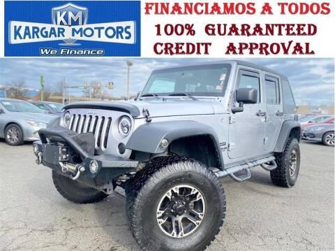 2014 Jeep Wrangler Unlimited for sale at Kargar Motors of Manassas in Manassas VA