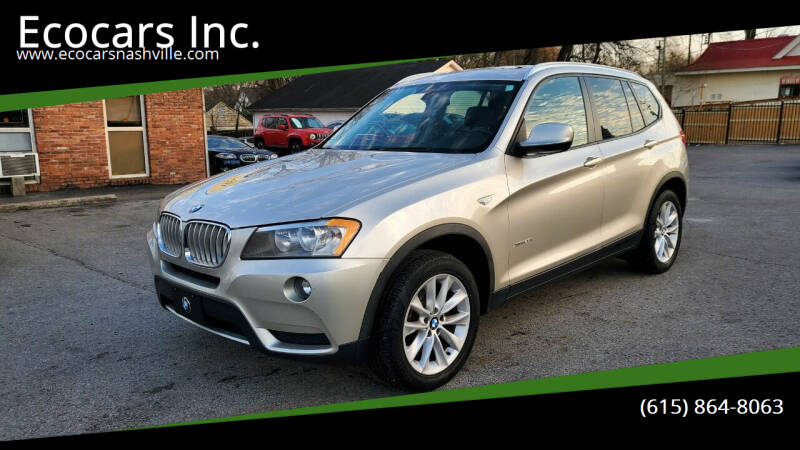 2013 BMW X3 for sale at Ecocars Inc. in Nashville TN