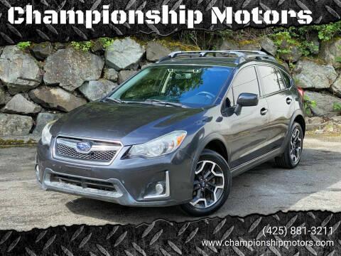 2016 Subaru Crosstrek for sale at Championship Motors in Redmond WA
