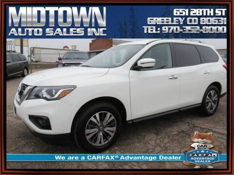 2017 Nissan Pathfinder for sale at MIDTOWN AUTO SALES INC in Greeley CO
