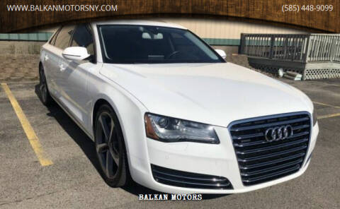2012 Audi A8 L for sale at BALKAN MOTORS in East Rochester NY
