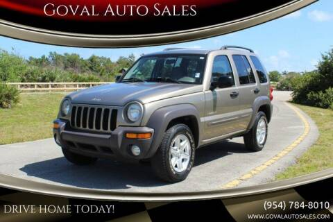 2004 Jeep Liberty for sale at Goval Auto Sales in Pompano Beach FL