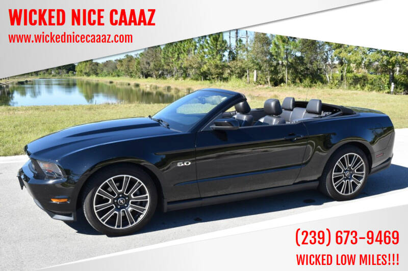 2012 Ford Mustang for sale at WICKED NICE CAAAZ in Cape Coral FL