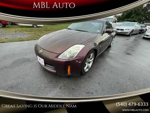 2006 Nissan 350Z for sale at MBL Auto in Fredericksburg VA