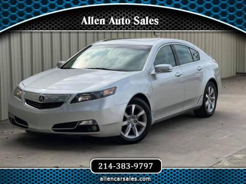 2012 Acura TL for sale at Allen Auto Sales in Dallas TX