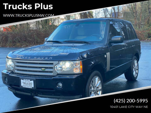 2007 Land Rover Range Rover for sale at Trucks Plus in Seattle WA
