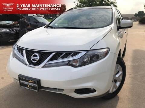 2013 Nissan Murano for sale at European Motors Inc in Plano TX