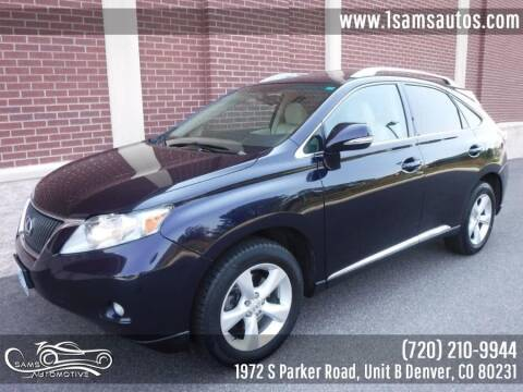 2010 Lexus RX 350 for sale at SAM'S AUTOMOTIVE in Denver CO