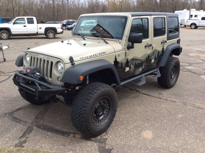 2017 Jeep Wrangler Unlimited for sale at MOTORS N MORE in Brainerd MN