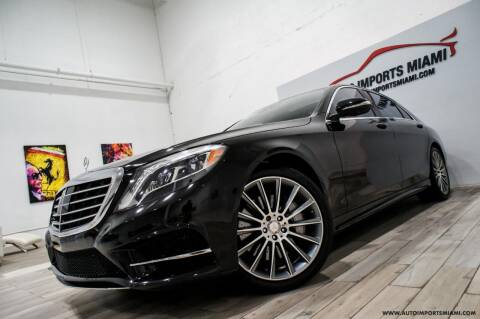 2016 Mercedes-Benz S-Class for sale at AUTO IMPORTS MIAMI in Fort Lauderdale FL