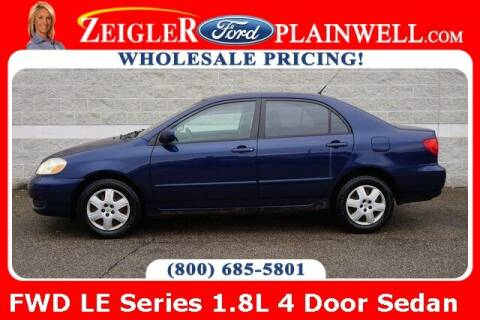 2005 Toyota Corolla for sale at Zeigler Ford of Plainwell- michael davis in Plainwell MI