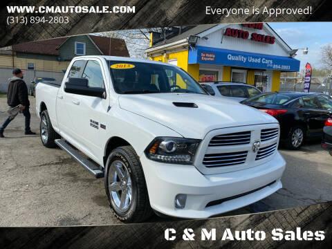 2013 RAM Ram Pickup 1500 for sale at C & M Auto Sales in Detroit MI