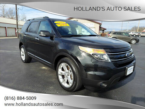 2014 Ford Explorer for sale at Holland's Auto Sales in Harrisonville MO