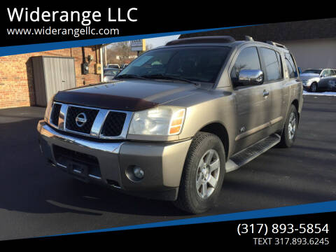 2007 Nissan Armada for sale at Widerange LLC in Greenwood IN