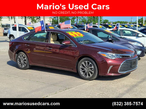 2017 Toyota Avalon for sale at Mario's Used Cars in Houston TX