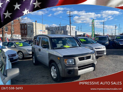 2003 Honda Element for sale at Impressive Auto Sales in Philadelphia PA